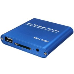 264 player NZ - Eu Plug 1080P Mini Hdd Media Player Hdmi Av Usb Host Full Hd With Sd Mmc Card Reader Support H.264 Mkv Avi 1920x1080P 100Mpbs(