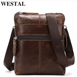 Genuine Leather Man Bag Small Australia - Westal Men's Genuine Leather Bag For Men Small Phone Pouch Messenger Bag Men Shoulder Bags Male Leather Crossbody Bags Man 2222 Y19052801