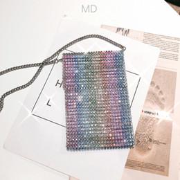 $enCountryForm.capitalKeyWord NZ - Designer-Rainbow Colorful Women Crystal Clutch Evening Bags Metal Minaudiere Wedding Diamond Handbags Bridal Purses