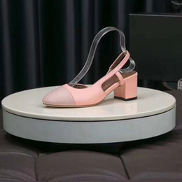 $enCountryForm.capitalKeyWord Australia - Newest 2019 design style Leather Women Stud Sandals Slingback Pumps Ladies Sexy High Heels 6.5cm Fashion rivets shoes T-strap