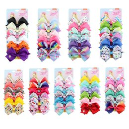 Girl flower handmade hair clip online shopping - One set quot jojo clip Multicolor hair accessories girls handmade bow lace flower with Hair clip present hair accessory