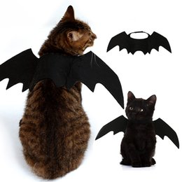 Wholesale Pets Bat Wings Black Cool Puppy Cat Bats Christmas Transforming Clothes Pet Supplies High Quality Hot Selling dl J1