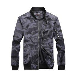 $enCountryForm.capitalKeyWord Australia - Camouflage Autumn Jacket Men Fashion Casual Baseball Jacket Plus Size M-7XL Stand Collar Rib Sleeve Slim Fit Coat Men