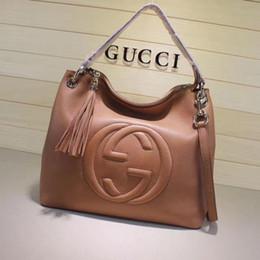 $enCountryForm.capitalKeyWord Australia - Top Quality Design Letter Embossing Handbag Tassel Shopping Tote Bag Women Genuine Leather 408825 Xl Travel Bag