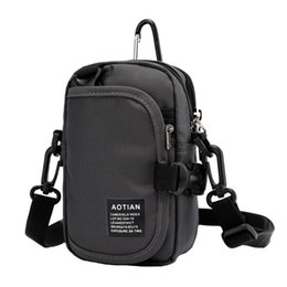 Belt pouches for men online shopping - 2019 Multi layer Crossbody Bag Cell Phone Purse Wallet Belt Buckle Pouch Shoulder Strap For Women Men