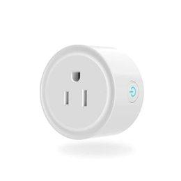 Tomada de alimentação sem fio WiFi inteligente funciona com Alexa Home, controle remoto por telefone inteligente com função de temporização de qualquer lugar sem necessidade de hub venda por atacado