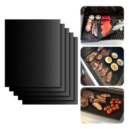 $enCountryForm.capitalKeyWord Australia - BBQ Grill Mat Non-stick Baking Mat Teflon Cooking Grilling Sheet Heat Resistance Easily Cleaned Picnic Cooking Tool