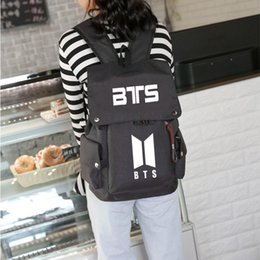 $enCountryForm.capitalKeyWord Canada - Pop Fashion Bangtan Boys Knapsack BTS Boy Korea Style Canvas School Bags For Teenage Girl BTS Fans Backpack Rucksack