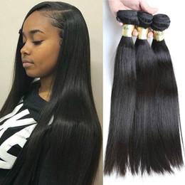 $enCountryForm.capitalKeyWord Australia - 10A Brazilian Virgin Hair Straight Hair Weaves Bundles Unprocessed Cuticle Aligned Human Hair Natural Color Bundles Weaves