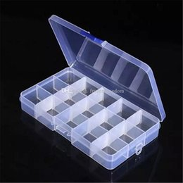 Tool Earrings NZ - Adjustable Compact 15 Grids Compartment Plastic Tool Container Storage Box Case Jewelry Earring Tiny Stuff Boxes Containers 2017091013