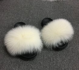 Discount dhl sandals - SARSALLYA Fur Slippers Women Real Fox Fur Slides Home Furry Flat Sandals Female Cute Fluffy House Shoes Woman Brand Luxu
