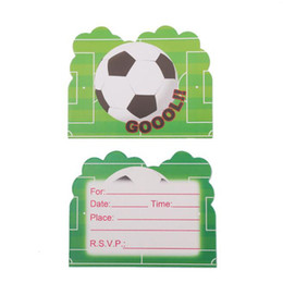 Invitations Themes Australia - Football Theme Party Paper Invitation Card Birthday Party Decorations Kids Baby Shower Supplies Party Favors ZC0597
