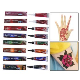 hot paintings Australia - HOT 1 Pc DIY Temporary Drawing Henna Paste Cone Beauty Women Finger Body Cream Paint For Stencil Body Art