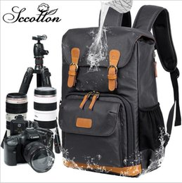 Army cAmerA bAgs online shopping - New Type of Double Shoulder Photo Backpack Single Back Digital Bag Waterproof Canvas Men s Backpack Camera Inner Bag Factory Direct Selli