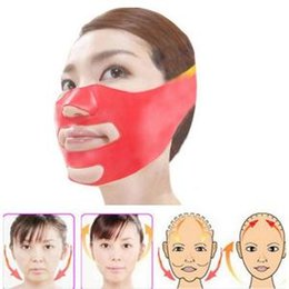 Discount face roller jade - Silicone Thin Face Mask V-line Face Bandage Belt Slimming Facial Jade Roller Double Chin Skin Lifting Slim Massage Tool