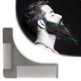 $enCountryForm.capitalKeyWord Australia - Pro Stainless Steel Beard Shaving Comb Lines Trimming Facial Hair Shaping Tool