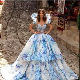 $enCountryForm.capitalKeyWord Australia - Evening dress Yousef aljasmi Labourjoisie Zuhair murad James_paul1 Ball Gown Scoop Short Sleeve White Organza Appliqued Crystal Long Dress