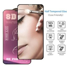 $enCountryForm.capitalKeyWord NZ - 8D Mirror Tempered Glass for iPhone 7 8 Plus X XS Max XR Full Cover Curved Edge Colorful Screen Protector Film