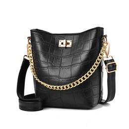 $enCountryForm.capitalKeyWord Australia - High quality female bag bucket bag fashion simple crocodile tattoo single shoulder crossbody bag