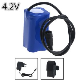 $enCountryForm.capitalKeyWord UK - 18650 4.2V 6400mAh 4x18650 Rechargeable Bicycle Bike Light 18650 Battery Pack With Screw Thread + 4.2V EU Bateria Pack Charger