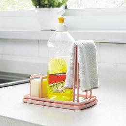 $enCountryForm.capitalKeyWord Australia - Kitchen Organizer Plastic Multi-functional Cloth Sponge Soap Dish Drain Storage Rack For Kitchen Storage Shelf Kitchen