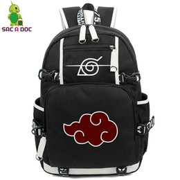 Wholesale cosplay naruto boy resale online - Anime Backpack Naruto School Backpacks for Teenagers Akatsuki Itachi Sharingan Cosplay Boys Girls Laptop Bags Travel Rucksack T190916