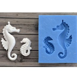 Make Cake Fondant Australia - Seahorse Collection Fondant Candy Silicone Mold for Sugarcraft Cake Decoration, Cupcake Topper, Polymer Clay, Soap Wax Making Crafting Proje