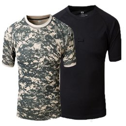 $enCountryForm.capitalKeyWord NZ - Outdoor Camouflage Men T-shirt Short Sleeve O Neck T Shirt Breathable Quick Dry Hiking Hunting Outdoor Combat Camping Tshirt
