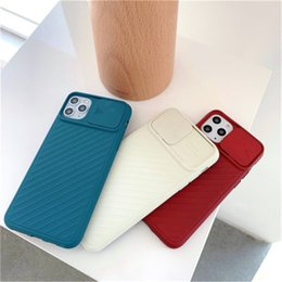 camera sliding Canada - New Iphone Case Applicable Lens Sliding IPhone11Pro Max Apple XS Silicone Soft Shell Protective Shell All-inclusive Camera