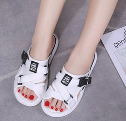 980970d3473 Slippers female summer wear new Korean version of wild ulzzang platform  shoes flat fashion net red sandals