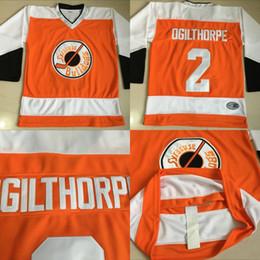 shooting jersey 2019 - #2 OGIE OGILTHORPE Syracuse BULLDOGS SLAP SHOT Movie Jerseys Stitched Hockey Jerseys Orange Fast Free shipping cheap sho