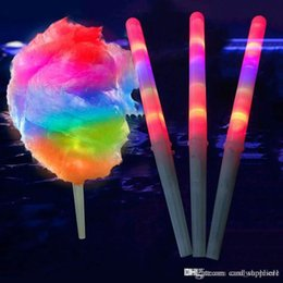 Toptan satış Yeni LED Pamuk Şeker Glow Parlayan Sopa Light Up Yanıp Sönen Koni Peri Ipi Sopa Lamba Ev Partisi Dekorasyon