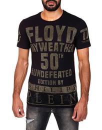 Venta al por mayor de Marcas nuevos diseños de Hip Hop Mayweather FLOYO camiseta de los hombres de invierno de manga corta de algodón Skull Designers para hombre camisetas 18759