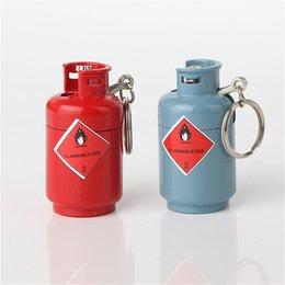 New Style Cigarette Accessories Portable Gas Lighter Mini Gas Bottle Shape Pendant Lighters Mqp