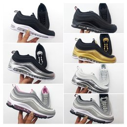golden running shoes Canada - Baby Kids Shoes Kanye West Zebra Running Shoes 2020 Children Athletic Beluga 2.0 Sports Sneakers Black silvery Golden 28-35