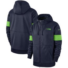 Navy cardigaNs online shopping - Mens Seattle Vintage Seahawks Sideline Performance Full Zip Hoodie College Navy Sweatshirt
