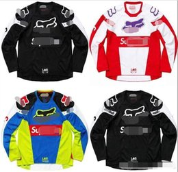 2020 Explosion sale fox custom downhill fox riding suit jacket men's summer off-road motorcycle off-road T-shirt long sleeve on Sale