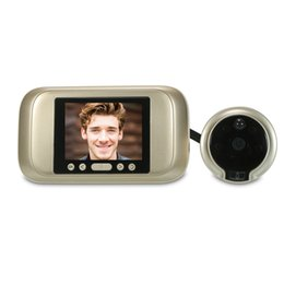 Lcd screen viewer online shopping - 3 inch LCD Color screen Degree Wireless Digital Eye Doorbell Peephole Door Viewer Color Night Vision Camera Outdoor Bell