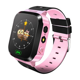 Gps smartwatch children online shopping - Q528 Smart Watch Children Wrist Watch Waterproof Baby Watch With Remote Camera SIM Calls Gift For Kids gt08 a1l SmartWatch DHL Free