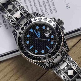 round folding tables Australia - Men 40mm fashionable stainless steel belt luminous automatic movement watch, frame poker icon mechanical table