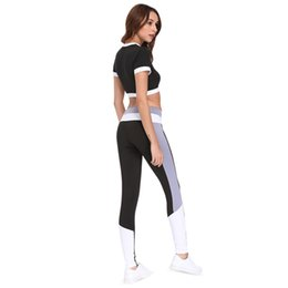 Chinese  ZAFUL Women Yoga Set Gym Clothing Seamless Leggings Cropped Shirts Workout Sport Suit Women Running Fitness Set Active Wear #959035 manufacturers