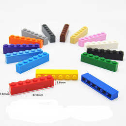 toy building bricks brands Australia - Free Shipping 1*6 Building Blocks City DIY Creative Bricks Bulk Model Figures Educational Kids Toys Compatible All Brands