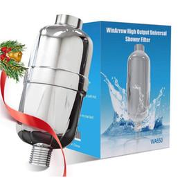 Venta al por mayor de El cartucho de filtro de agua de múltiples etapas reemplazable del filtro de ducha universal de alto rendimiento de 8 etapas reduce la picazón seca de la piel La caspa elimina el cloro
