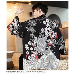 $enCountryForm.capitalKeyWord Australia - Sinicism Shop Men Harajuku Kimono Shirts 2019 Man Japanese Street Hip Hop Summer Shirts Men's Black Vintage Desginer Clothing Y19071301