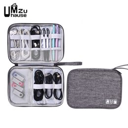 waterproof fabric lining UK - Travel Headphone Cord Storage Bags Line Organizer Portable Cation Waterproof Zipper Card USB Charger Cable Home Organization New