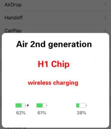 Bluetooth Kulaklık GPS Konumlama Şarj Yeni Tomurcuklar kulaklık H1 çip Yeniden adlandırılmış kulaklık 2. Nesil Kablosuz