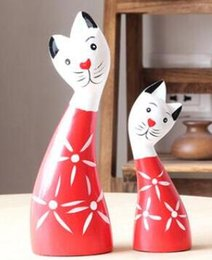 $enCountryForm.capitalKeyWord Australia - North European American Wood Carving SET Rich Cat to Cat Ornaments Home Living Room Bedroom Marriage Gift Crafts home statues