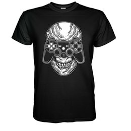 $enCountryForm.capitalKeyWord UK - Gamer Skull T-shirt NES Player Fun Nerd PS4 Totenkopf Gr S - 5XL Joypad Atari Men Women Unisex Fashion tshirt Free Shipping