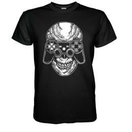 Ps4 Shipping UK - Gamer Skull T-shirt NES Player Fun Nerd PS4 Totenkopf Gr S - 5XL Joypad Atari Men Women Unisex Fashion tshirt Free Shipping