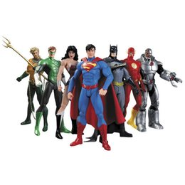 $enCountryForm.capitalKeyWord UK - Hot New 7pcs set 17cm Justice League Super Hero Avengers Ant-man Spider-man Superman Batman Action Figure Toys Doll Y190604